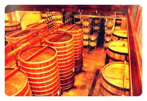 Barrel Aging (from our Honeymoon in Napa)